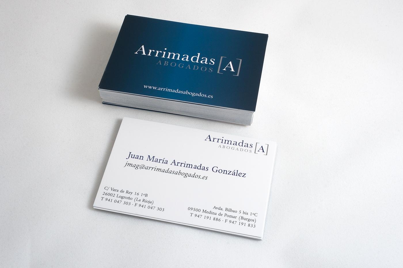 Arrimadas Abogados tarjeta